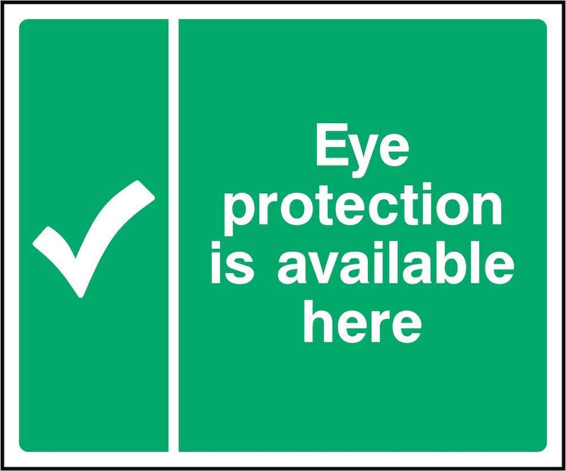 First Aid Sign: Eye Protection Available | Elevate Signs