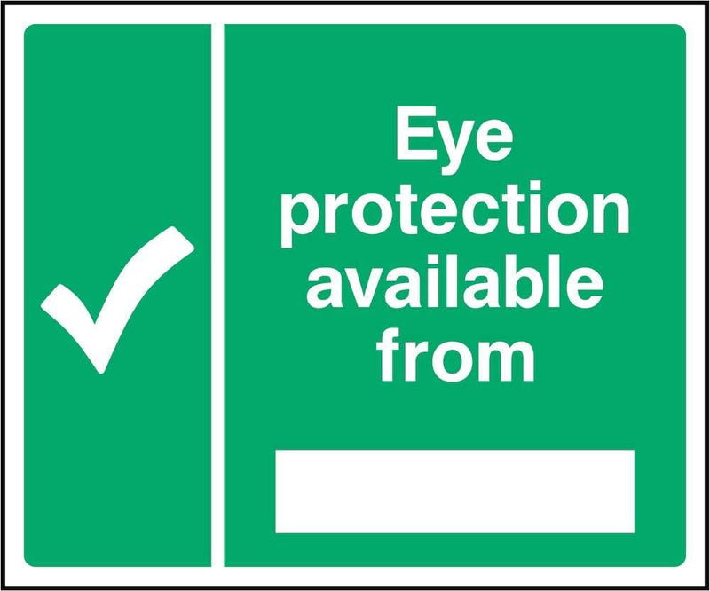 First Aid Sign: Editable Eye Protection Location | Elevate Signs