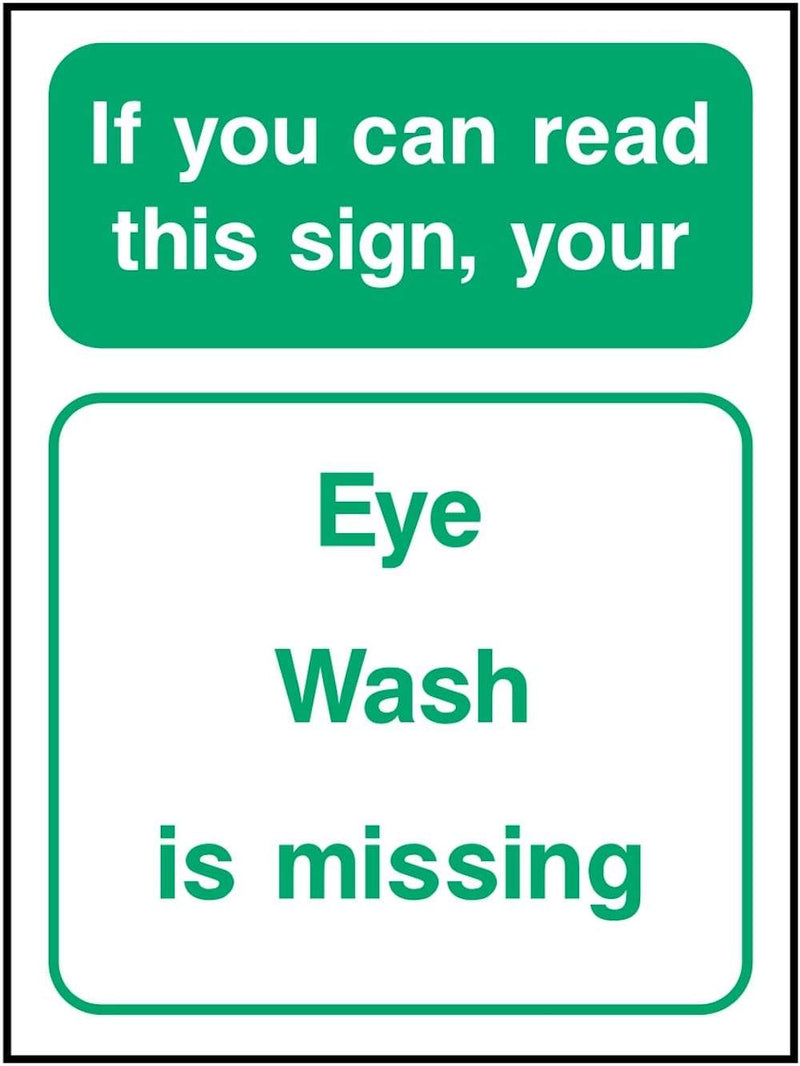 First Aid Sign: Eye Wash Missing | Elevate Signs