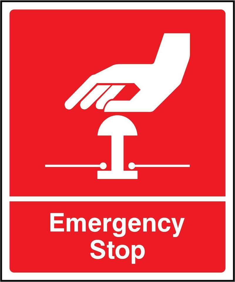 Red Emergency Stop Sign | Elevate Signs