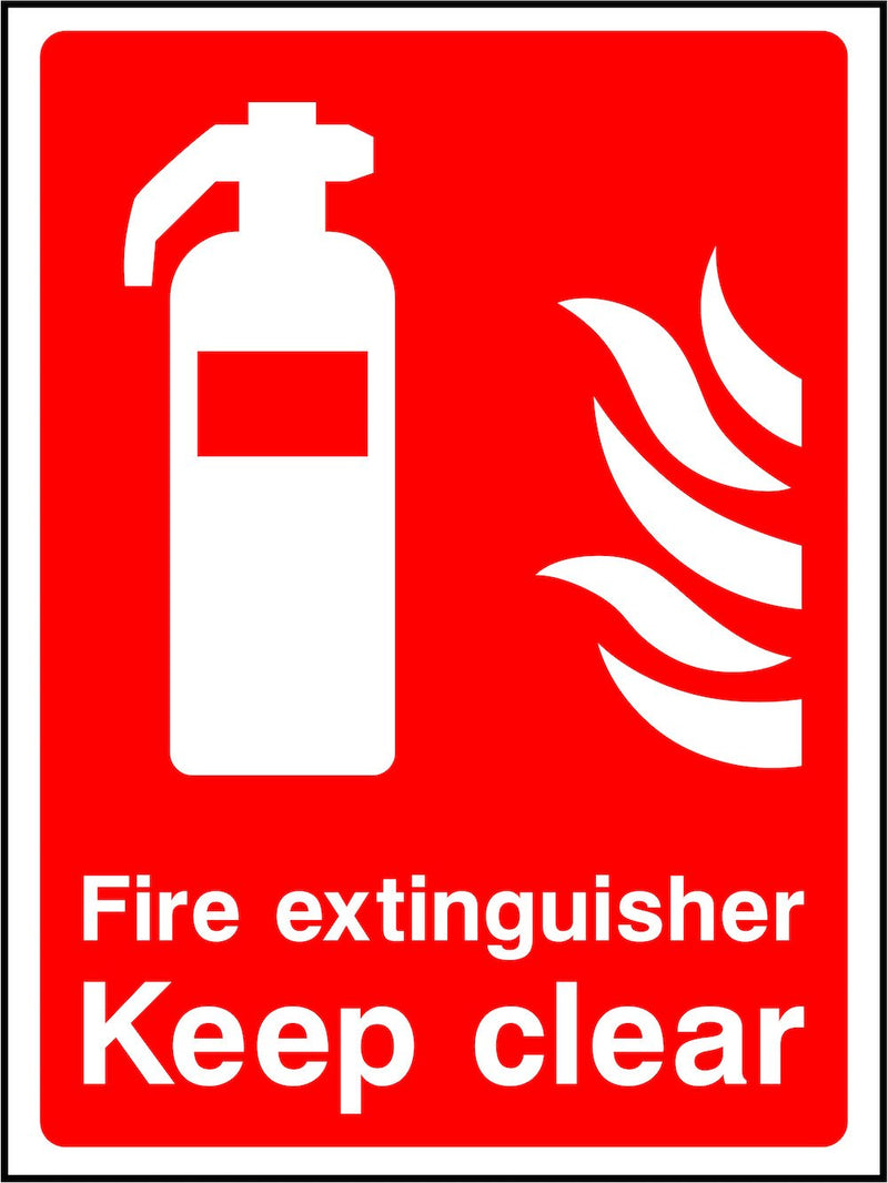 Fire Extinguisher, Keep Clear Sign | Elevate Signs
