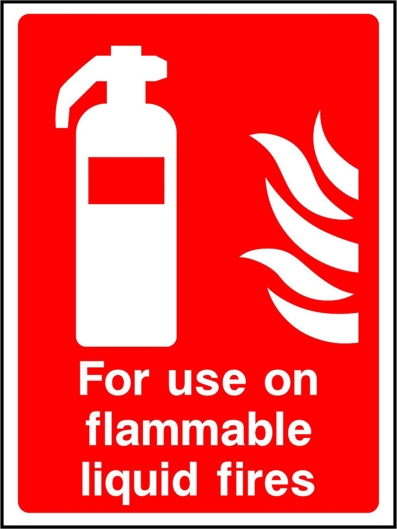 Flammable Liquid Fire Extinguisher Sign | Elevate Signs