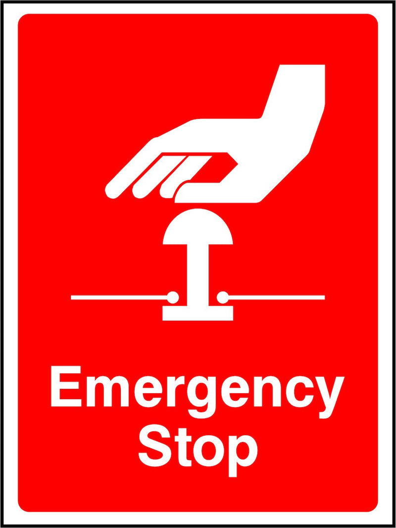 Emergency Stop Button (Fire) Sign | Elevate Signs