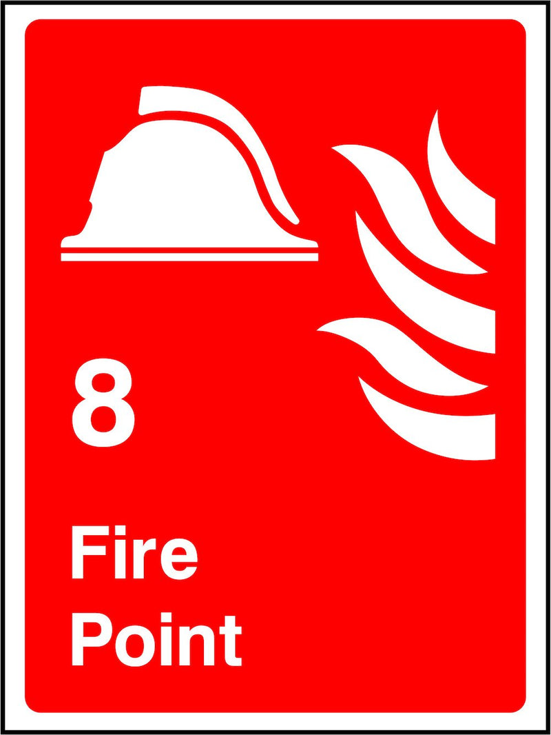 Numbered Fire Point Sign