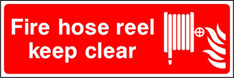 Fire Hose Reel Sign: Keep Clear | Elevate Signs