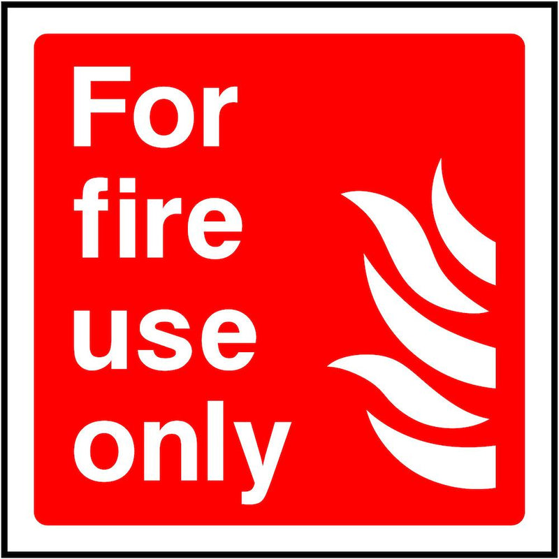 Fire Equipment Sign: For Fire Use Only | Elevate Signs