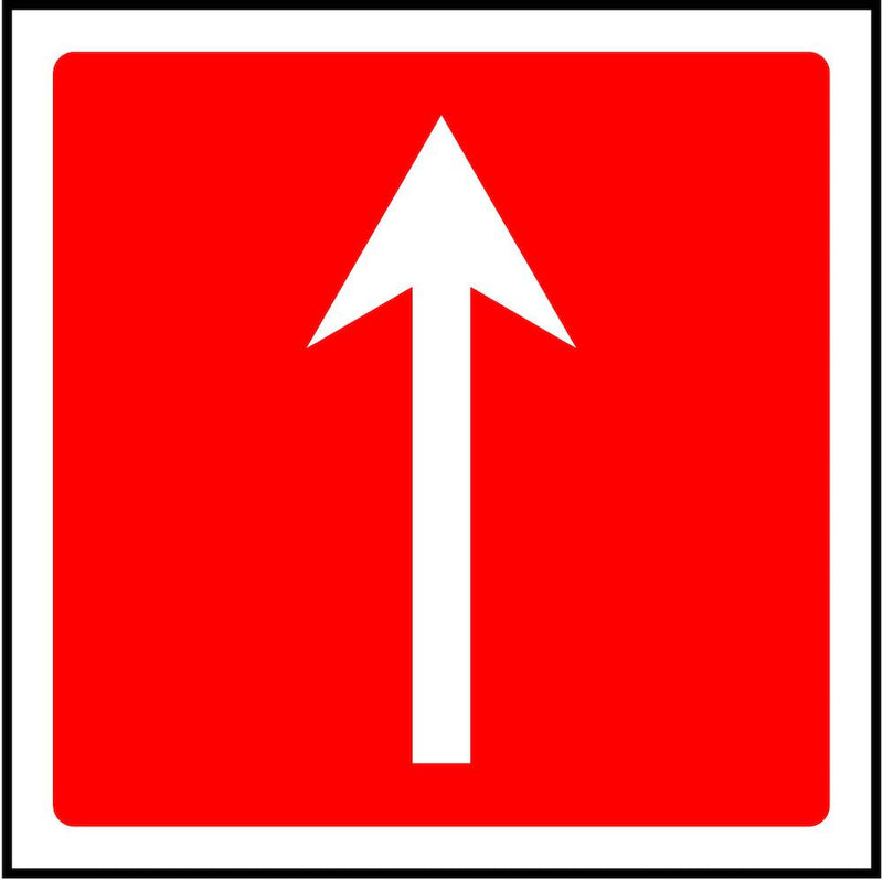 Fire Escape Direction Sign: Forward Arrow | Elevate Signs