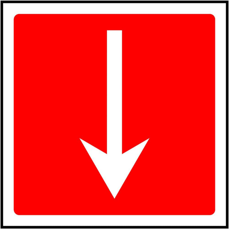 Fire Escape Direction Sign: Backward Arrow | Elevate Signs