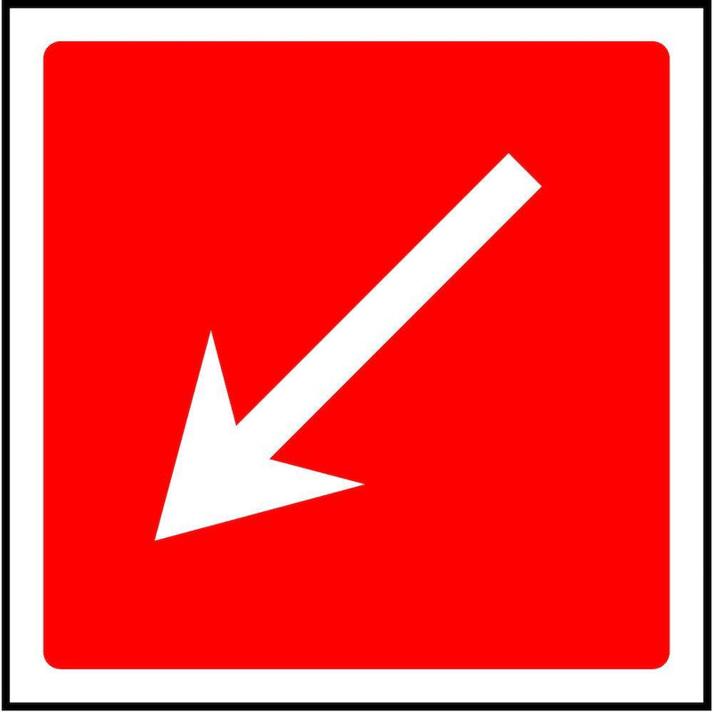Fire Escape Direction Sign: Angled, Left Arrow | Elevate Signs