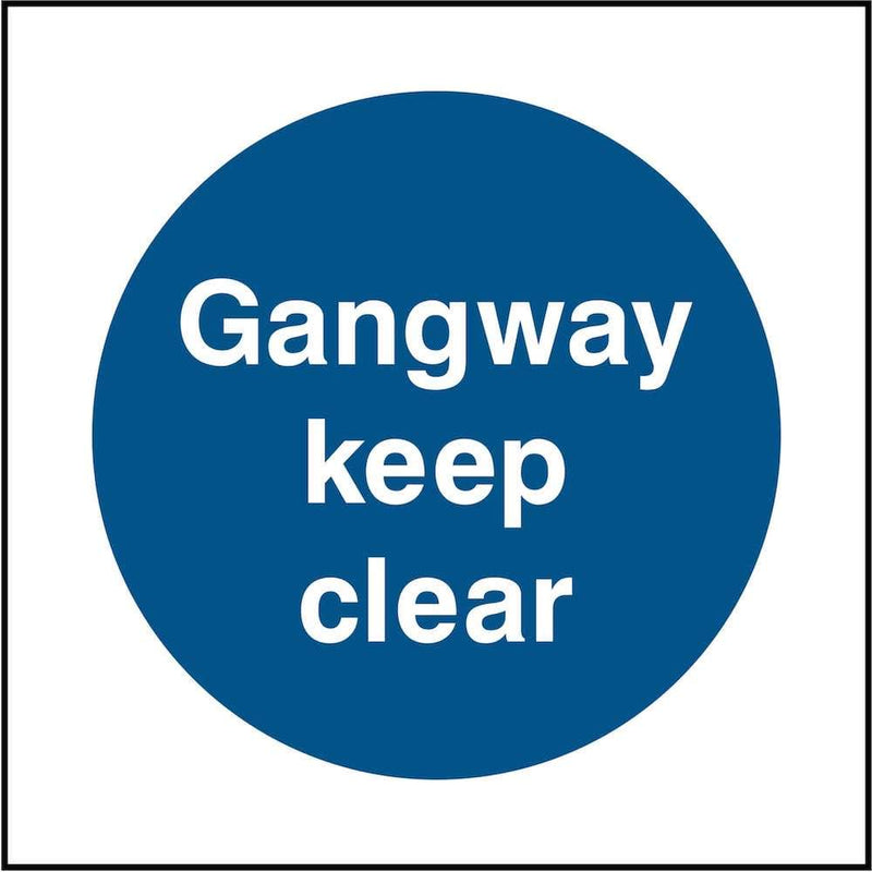 Gangway: Keep Clear Sign | Elevate Signs