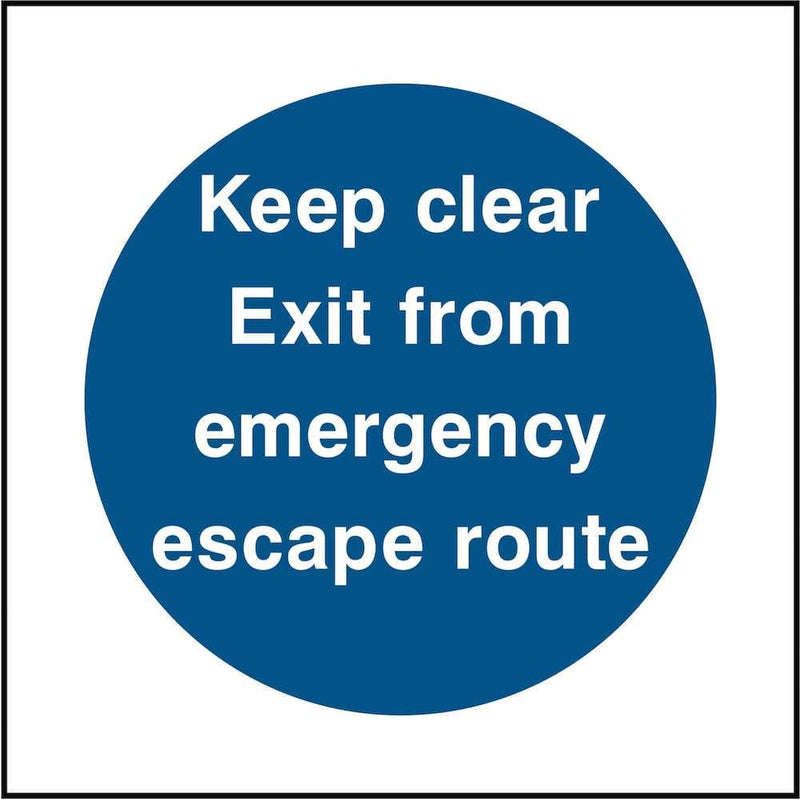 Emergency Exit Sign: Keep Clear | Elevate Signs
