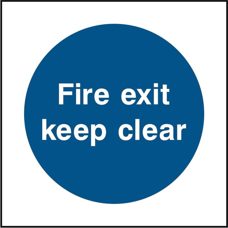 Fire Exit Sign: Keep Clear | Elevate Signs