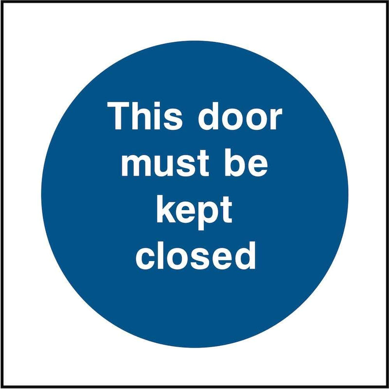 Emergency Escape Door Sign: Keep Closed | Elevate Signs