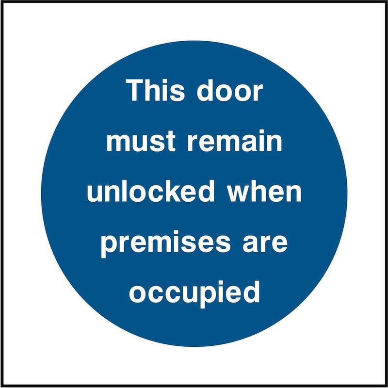Emergency Escape Door Sign: Keep Unlocked | Elevate Signs