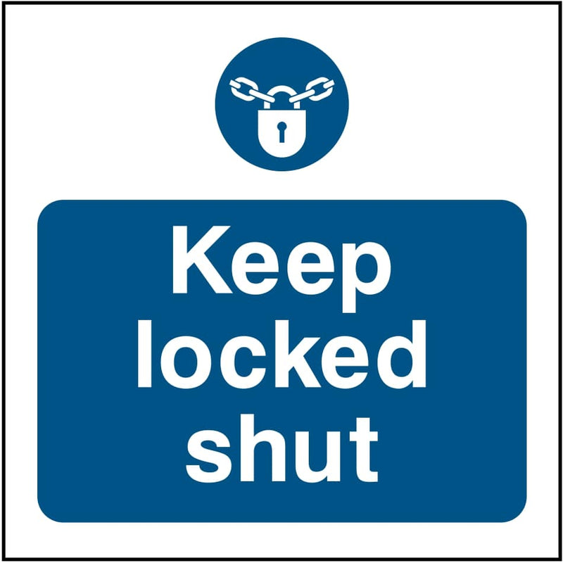 Emergency Escape Door Sign: Keep Locked Shut | Elevate Signs