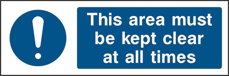 Emergency Escape Sign: Keep Area Clear | Elevate Signs