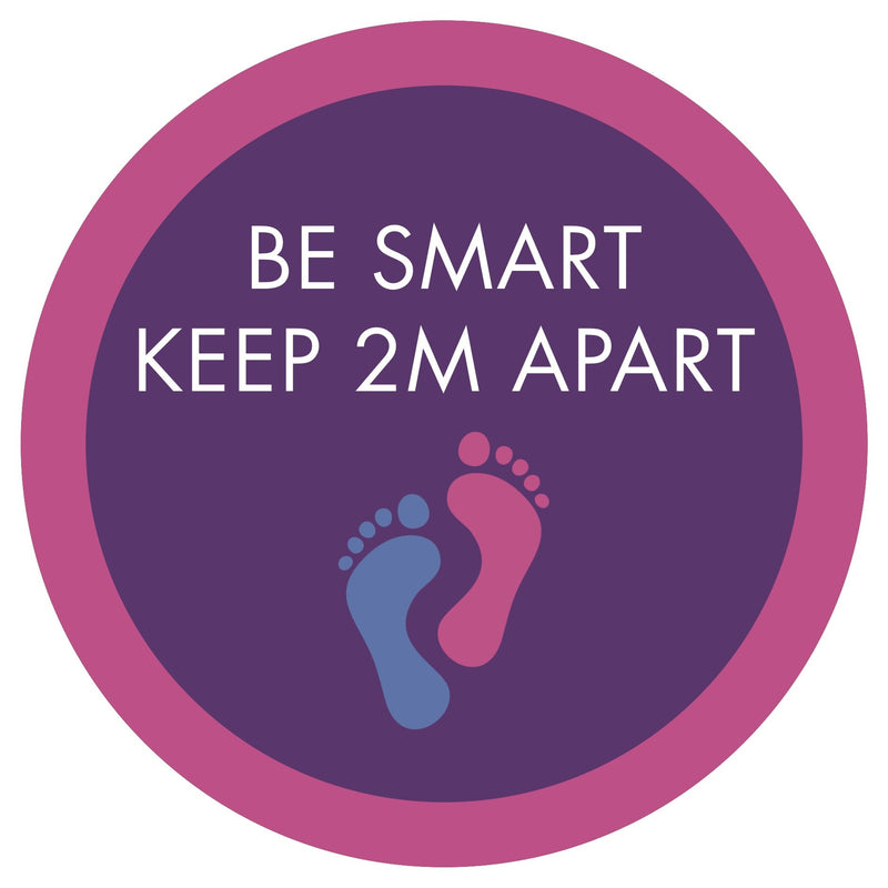 Be Smart, Keep Apart (Footprints) Floor Sticker | Elevate Signs