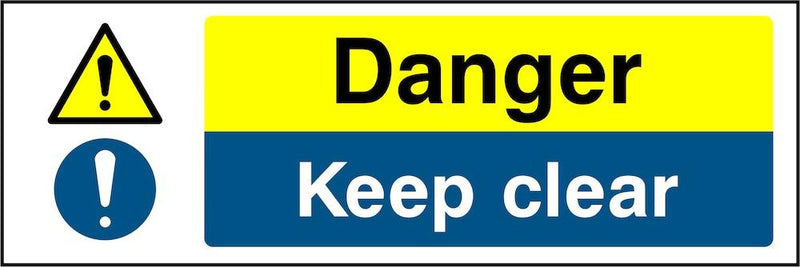 Danger Sign: Keep Clear | Elevate Signs