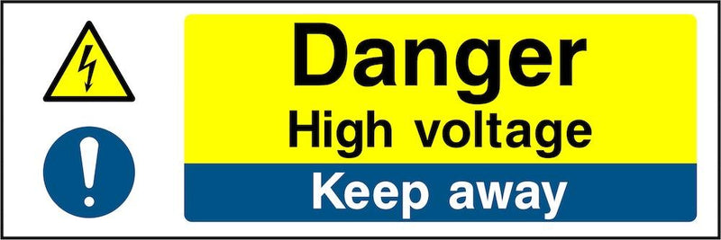Danger Sign: High Voltage, Keep Clear | Elevate Signs