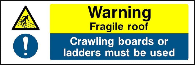 Warning Sign: Fragile Roof | Elevate Signs