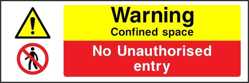 Warning Sign: Confined Space, No Entry | Elevate Signs