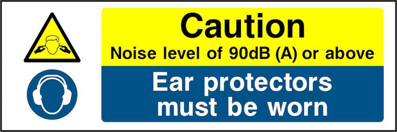 Caution Sign: Noise Level Above 90dB | Elevate Signs
