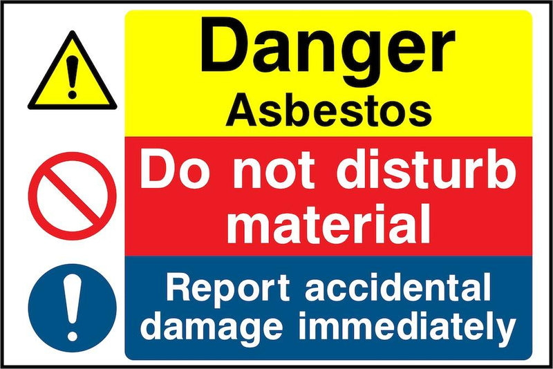 Danger Sign: Asbestos, Report Damage | Elevate Signs
