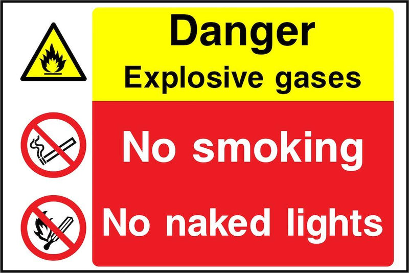 Danger Sign: Explosive Gases, No Naked Lights | Elevate Signs