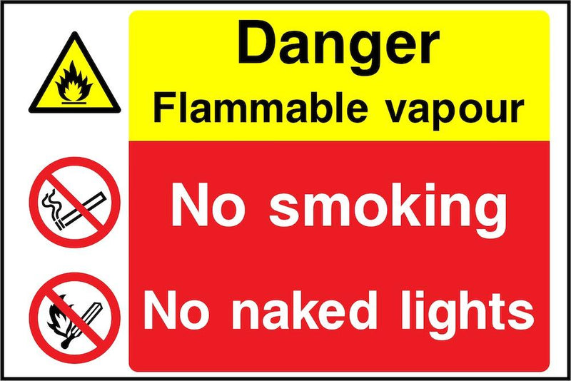 Danger Sign: Flammable Vapour | Elevate Signs