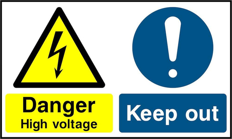 Danger Sign: High Voltage, Keep Out | Elevate Signs
