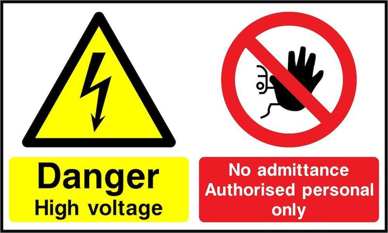 Danger Sign: High Voltage, No Admittance | Elevate Signs