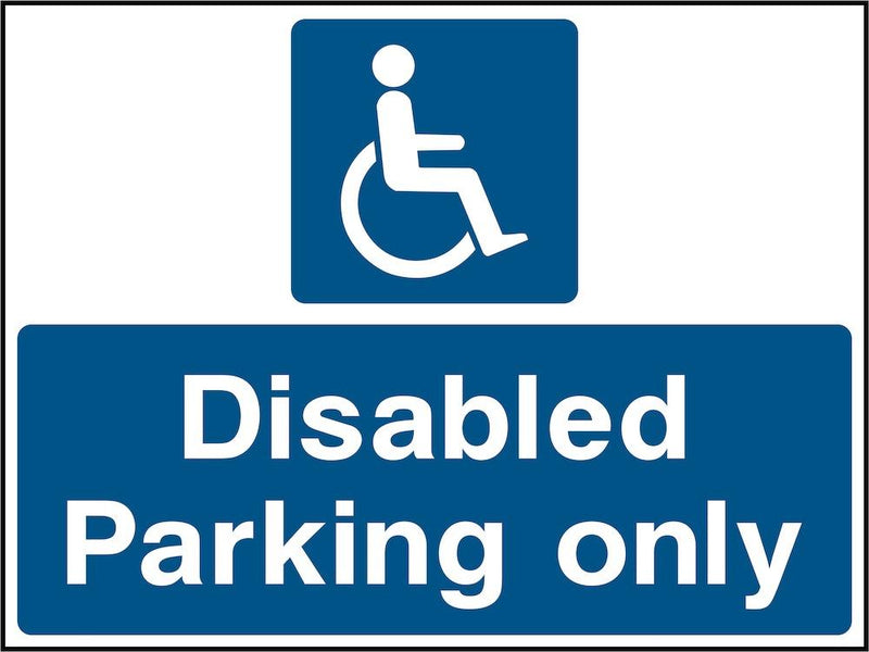 Car Park Sign: Disabled Parking Only | Elevate Signs