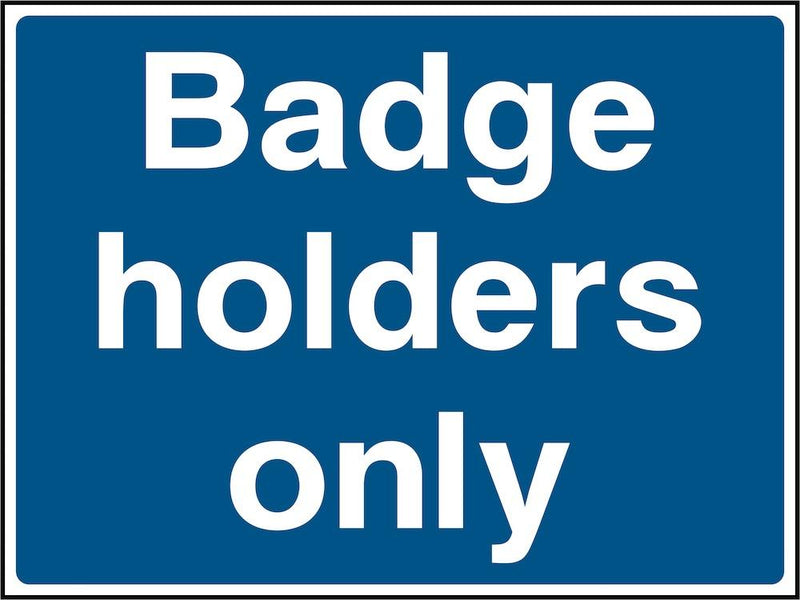 Car Park Sign: Disabled Badge Holders Only | Elevate Signs