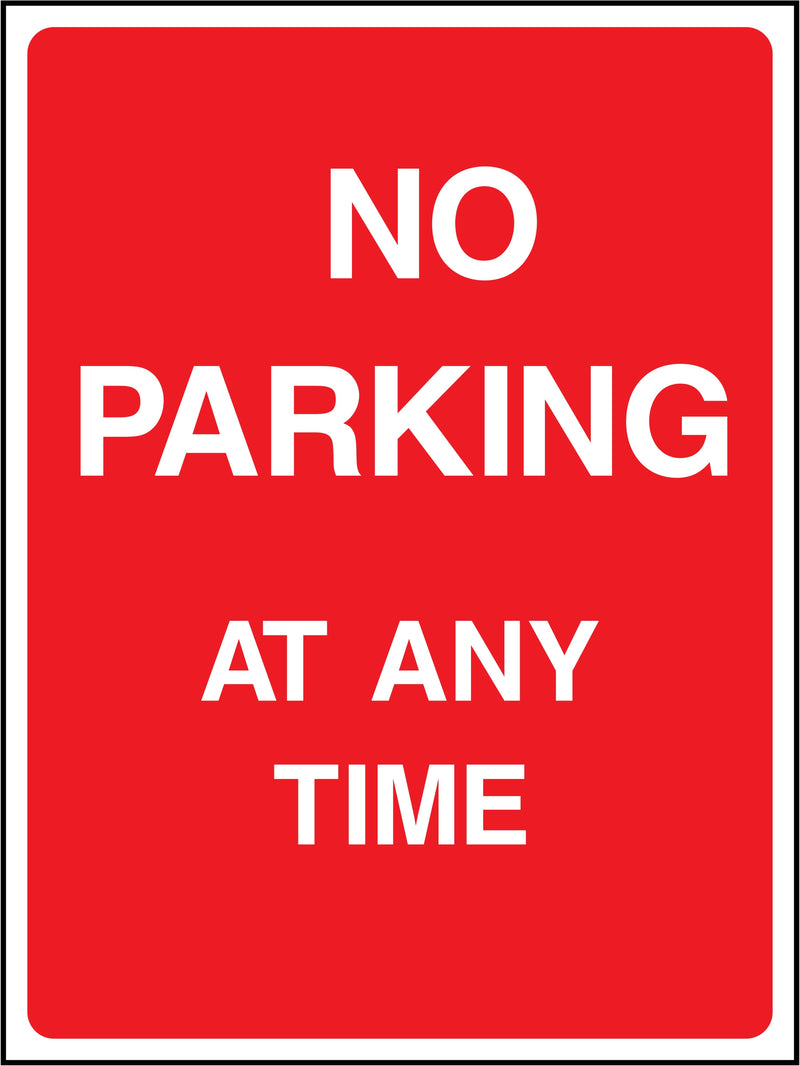 No Parking Sign: At Any Time | Elevate Signs