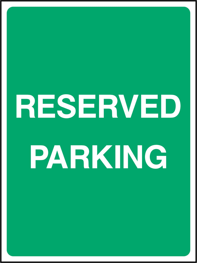 Reserved Parking Sign | Elevate Signs