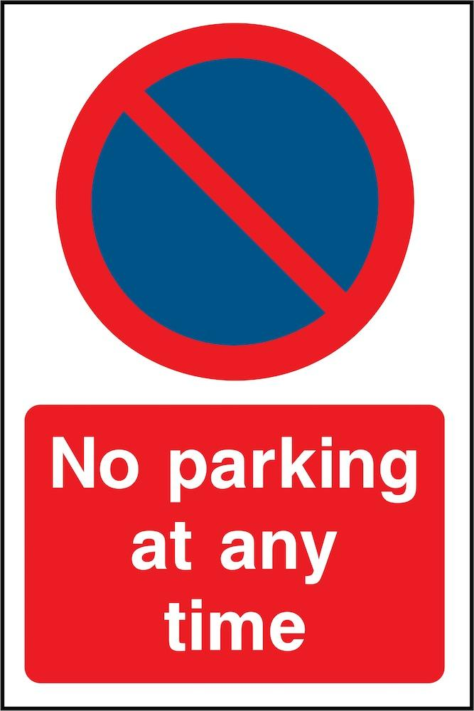 No Parking At Any Time Sign | Elevate Signs