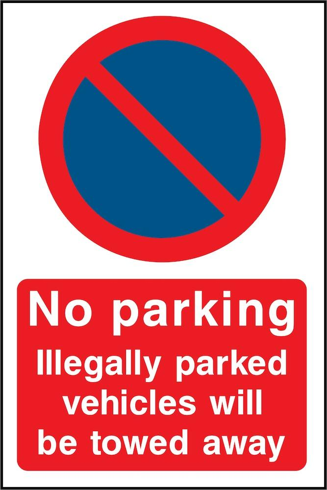 No Parking, Vehicles Will Be Towed Sign | Elevate Signs