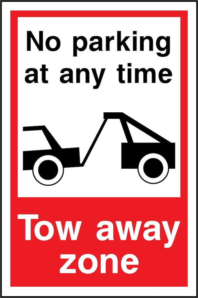 No Parking At Any Time, Tow Away Zone Sign | Elevate Signs