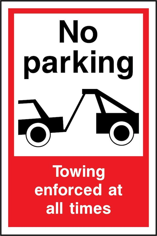 No Parking, Towing Enforced At All Times Sign | Elevate Signs