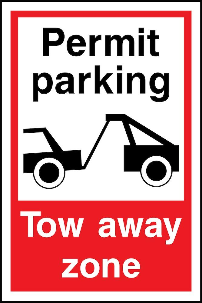 Permit Parking, Tow Away Zone Sign | Elevate Signs