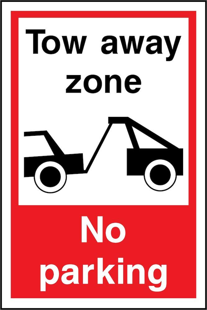 Tow Away Zone, No Parking Sign | Elevate Signs