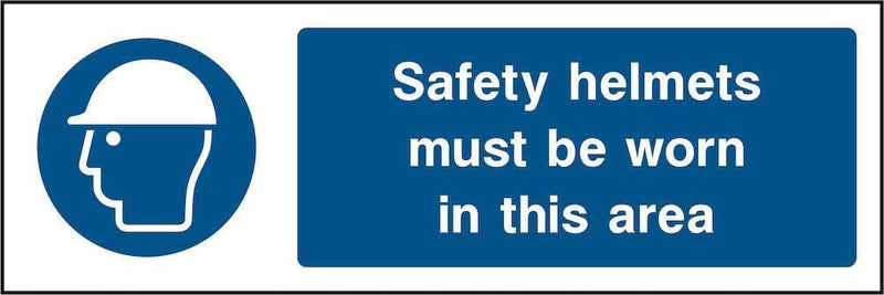 PPE Sign: Safety Helmets Area | Elevate Signs
