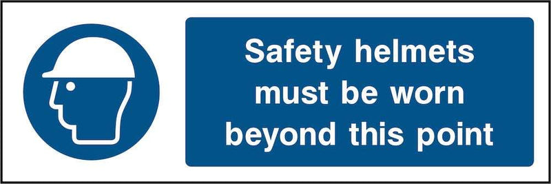 PPE Sign: Wear Safety Helmets Past Point | Elevate Signs
