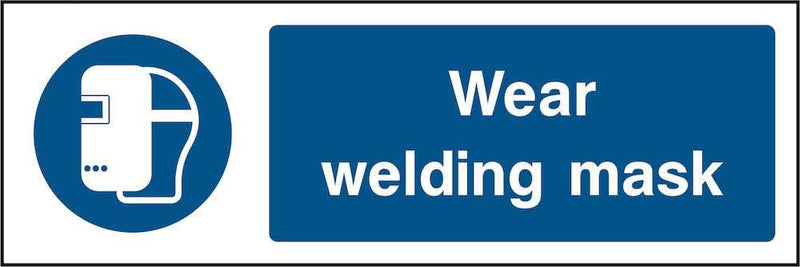 PPE Sign: Wear Welding Mask | Elevate Signs