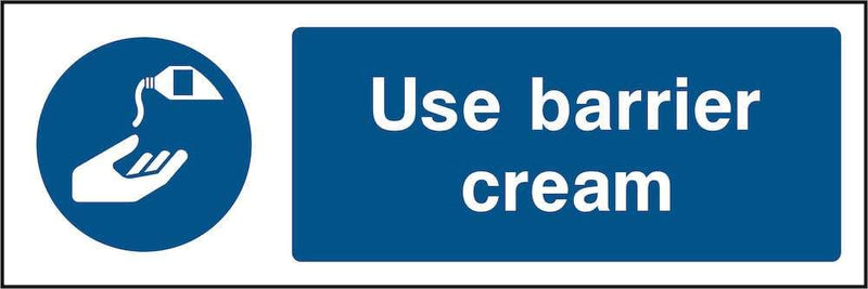 PPE Sign: Use Barrier Cream | Elevate Signs