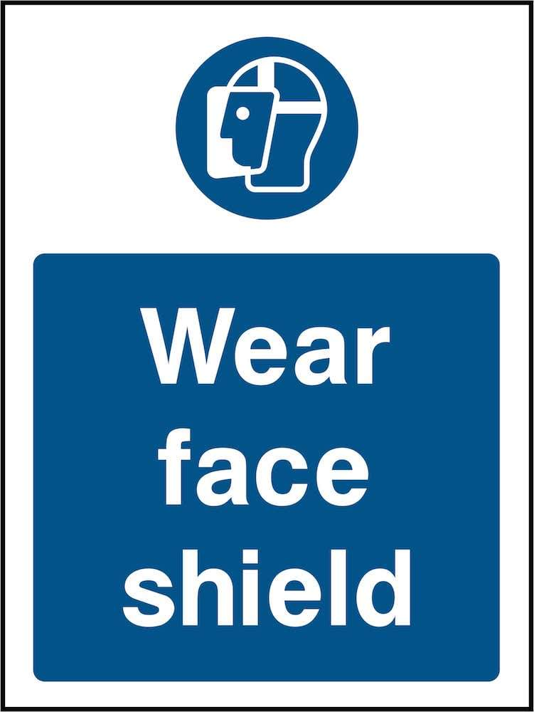 PPE Sign: Wear Face Shield (Image) | Elevate Signs