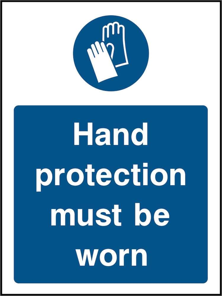 PPE Sign: Wear Hand Protection (Image) | Elevate Signs