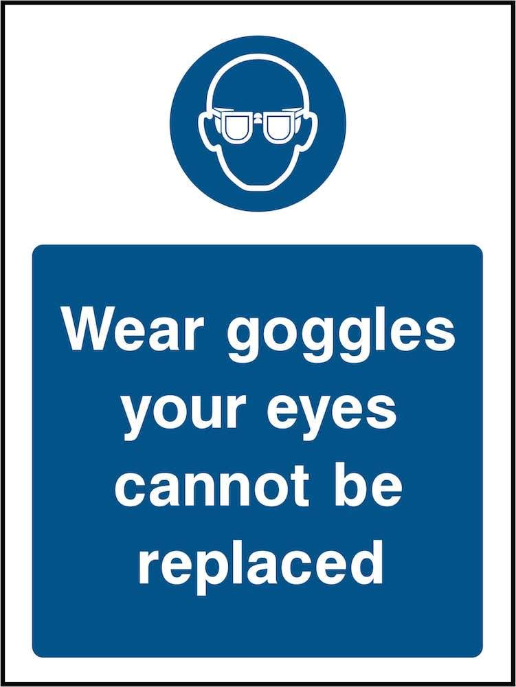 PPE Sign: Wear Goggles (Image) | Elevate Signs