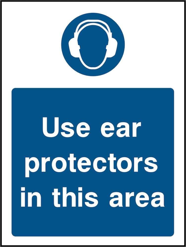 PPE Sign: Ear Protector Area (Image) | Elevate Signs