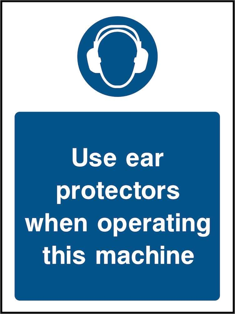 PPE Sign: Machine Ear Protectors (Image) | Elevate Signs
